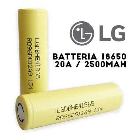 BATTERIA LG 18650 | 2500mAh - 3,7 V - 20A Batteria Ricaricabile