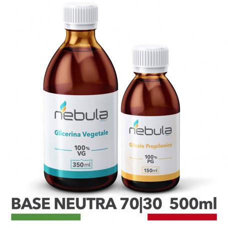 base neutra 70/30 glicole propilenico + glicerina vegetale base neutra per sigaretta elettronica