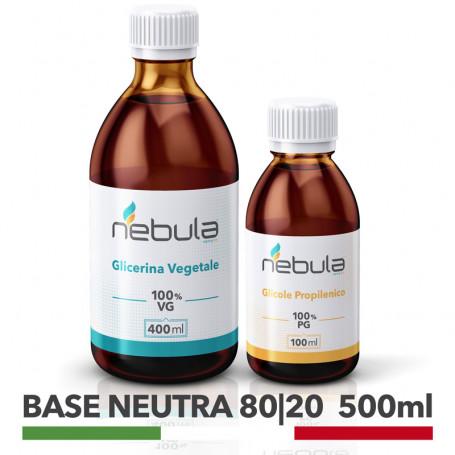 base neutra 80/20 glicole propilenico + glicerina vegetale base neutra per sigaretta elettronica