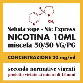 Nicotina Nic Express Nebula 20mg/ml 50/50 10ml