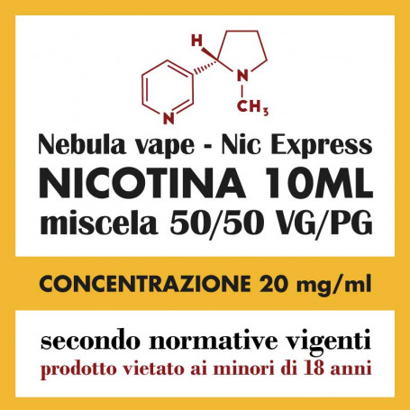 Nicotina Nic Express Nebula 20mg/ml 50/50 10ml